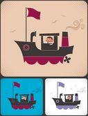 Ship Captain — Stock Vector