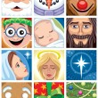 Christmas Avatars — Stock Vector