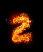 Number of fire — Stock Photo