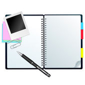 Notebook with pen — Stock Vector