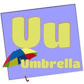 U-umbrella/Colorful alphabet letters — Stock Photo