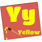 Y イエロー/カラフルなアルファベットの文字 — ストック写真