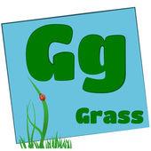 Letras del alfabeto G-hierba/colorido — Foto de Stock