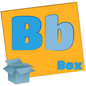 B-box/Colorful alphabet letters — Stock Photo