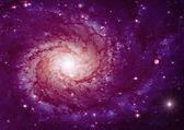 Far away spiral galaxy — Stock Photo