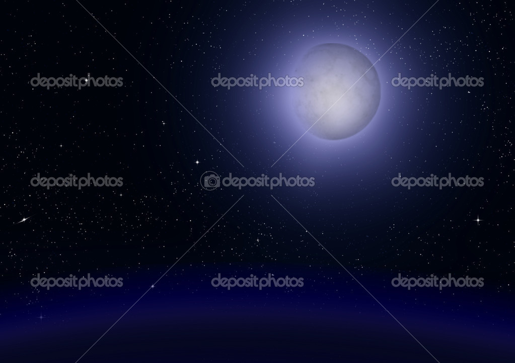 Full moon in the night black sky — Stock Photo #11648223