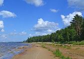 облака над побережье залива — Стоковое фото