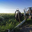 Plow in a field — Stock Photo