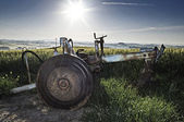 Plow in a field — Stockfoto