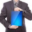 Business man holding the modern digital tablet pc — Stock Photo