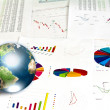 Business graph with earth (Elements of this image furnished by N — Stock Photo #11013438