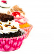 Cupcakes isolated on white background — Zdjęcie stockowe