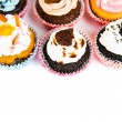 Cupcakes isolated on white background — 图库照片