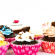 Cupcakes isolated on white background — Stock Photo
