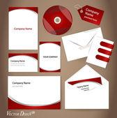Plantillas de estilo empresarial para el diseño de su proyecto, vector illustr — Vector de stock