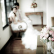 Stock Photo: Beautiful flower wedding decoration