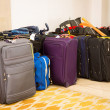 Suitcases and travel bag — Stock Photo