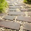 Stock Photo: Flagstone walkway