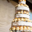 Royalty-Free Stock Photo: Wedding cake of cupcakes