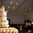 Stock Photo: Wedding cake of cupcakes
