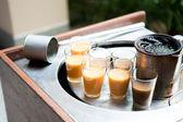 Glass of hot tea — Stock Photo