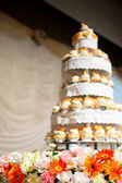 Wedding cake of cupcakes — Stock Photo