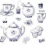 Tea set — Stock Vector
