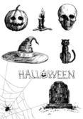 Set di halloween — Vettoriale Stock