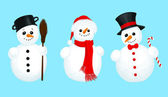 3 snowmen — Stock Vector