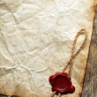 Old blank paper with was seal — Stockfoto #10737918