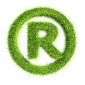 Grass registered trademark symbol — Stock Photo
