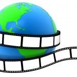 země zabalené do filmu — Stock fotografie