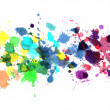 Stock Photo: Rainbow of watercolor paint
