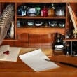 Old writing desk — Stock Photo