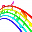 Colorful music notes — Stock Photo