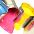 CMYK cans of paint — Stock Photo