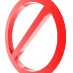 Kırmızı yasak işareti — Stok fotoğraf