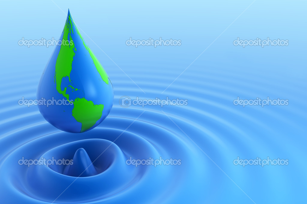 Earth water drop — Stock Photo #10836901