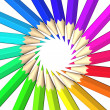 rainbow colored pencils — Stock Photo #10840146