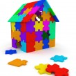 House of puzzle pieces - Stock Photo