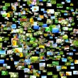Scattered images - Stock Photo
