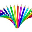 Rainbow of colored pencils — Stock Photo #10841012