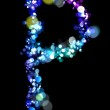 Lights in the shape of letters — Stock Photo