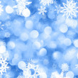 Snowflakes background - Stockfoto