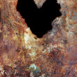 Grunge texture with heart — Stock Photo