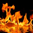 Fire on water — Stock Photo