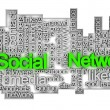 Social network tag cloud — Stock Photo #10844651