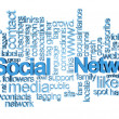 Stock Photo: Social network tag cloud