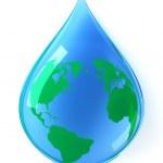 Earth water drop — Stock Photo