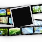 Blank photo with film — Stock Photo